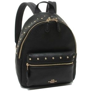 COACH Mini Charlie Backpack With Studs